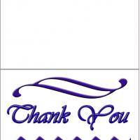 Printable Formal Thank You With Blue Graphics - Printable Thank You Cards - Free Printable Cards