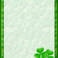 Printable Four Leaf Clover Stationery - Printable Stationary - Free Printable Activities