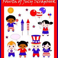 Printable Fourth of July Kids Scrapbook - Printable Scrapbook - Free Printable Crafts