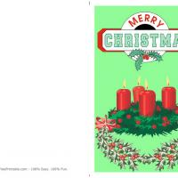 Printable Frame Of Holly - Printable Christmas Cards - Free Printable Cards