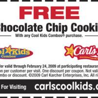 Printable Carl's Jr. Free Chocolate Chip Cookie - Printable Discount Coupons - Free Printable Coupons
