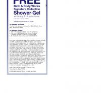 Bath &amp; Body WorksFree Shower Gel