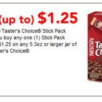 Free Up To 1.25 Nescafe Taster's Choice Stick Pack