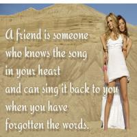 Printable Friend Knows the Song Quote - Printable Friendship Quotes - Free Printable Quotes