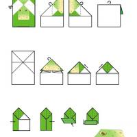 Printable Frog Origami - Paper Crafts - Free Printable Crafts
