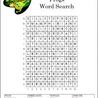 Frogs Word Search
