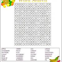 Printable Fruit Word Search - Printable Word Search - Free Printable Games