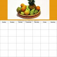Printable Fruits Blank Calendar - Printable Blank Calendars - Free Printable Calendars