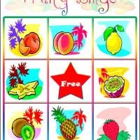 Printable Fruity Bingo Card 3 - Printable Bingo - Free Printable Games