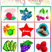 Printable Fruity Bingo Card 1 - Printable Bingo - Free Printable Games