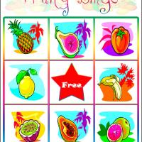 Printable Fruity Bingo Card 2 - Printable Bingo - Free Printable Games