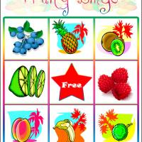 Printable Fruity Bingo Card 4 - Printable Bingo - Free Printable Games