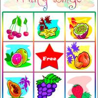 Printable Fruity Bingo Card 5 - Printable Bingo - Free Printable Games