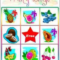 Printable Fruity Bingo Card 6 - Printable Bingo - Free Printable Games