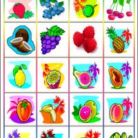 Printable Fruity Bingo Tiles - Printable Bingo - Free Printable Games