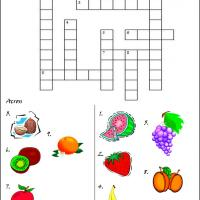 Printable Fruity Crossword - Printable Crosswords - Free Printable Games