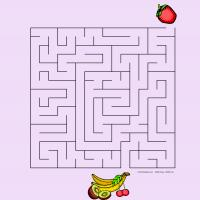 Printable Fruity Maze 3 - Printable Mazes - Free Printable Games