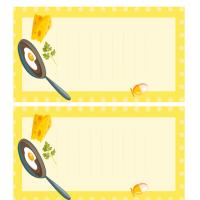 Printable Frying Egg Recipe Cards - Printable Recipe Cards - Misc Printables
