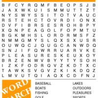 Fun And Recreation Word Search