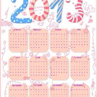 Printable Fun Kids Graffiti 2013 Calendar - Printable Yearly Calendar - Free Printable Calendars