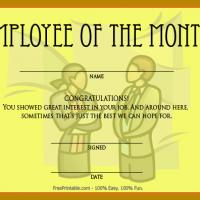 Printable Funny Employee Of The Month - Printable Awards - Misc Printables