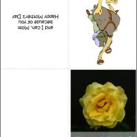 Funny Yellow Rose Card