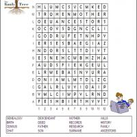 Printable Genealogy Word Search - Printable Word Search - Free Printable Games