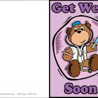 Printable Get Well Bear - Printable Get Well Cards - Free Printable Cards