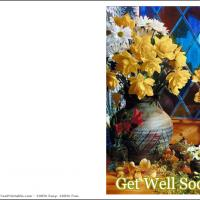 Printable Get Well Soon Card With Flowers - Printable Get Well Cards - Free Printable Cards