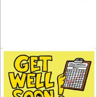 Printable Get Well Soon Greeting With Medical Clipboard - Printable Get Well Cards - Free Printable Cards