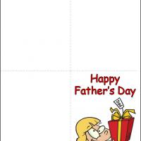 Printable Gift for Dad from Little Girl - Printable Fathers Day Cards - Free Printable Cards