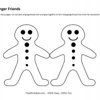 Printable Ginger Friends Craft - Printable Templates - Free Printable Activities