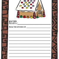 Printable Gingerbread House - Printable Recipe Cards - Misc Printables