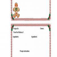 Gingerbread Man 4x6 Recipe Card
