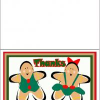 Printable Gingerbread Man And Woman - Printable Thank You Cards - Free Printable Cards