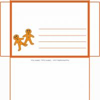 Printable Gingerbread Man Envelope - Printable Card Maker - Free Printable Cards