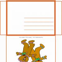 Printable Gingerbread Man With Hollies - Printable Card Maker - Free Printable Cards