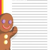 Printable Gingerbread Man - Printable Recipe Cards - Misc Printables