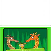 Printable Giraffe Family - Printable Fathers Day Cards - Free Printable Cards