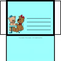 Printable Girl And Boy Bear - Printable Card Maker - Free Printable Cards