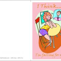 Printable Girl Falling In Love - Printable Greeting Cards - Free Printable Cards