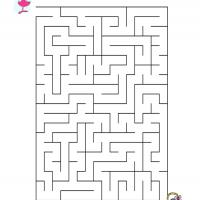 Printable Girl Finding Easter Eggs - Printable Mazes - Free Printable Games