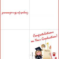 Printable Girl Graduate with Diploma Graduation Card - Printable Graduation Cards - Free Printable Cards