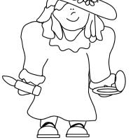 Printable Girl in Mom's Clothes - Printable Coloring Sheets - Free Printable Coloring Pages