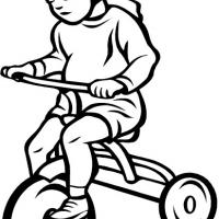 Printable Girl on Trike - Printable Coloring Sheets - Free Printable Coloring Pages