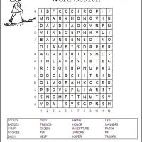 Printable Girl Scouts - Printable Word Search - Free Printable Games
