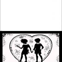 Girl Shadow In Love Card