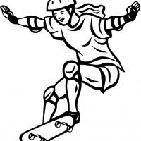 Printable Girl Skateboarding - Printable Coloring Sheets - Free Printable Coloring Pages