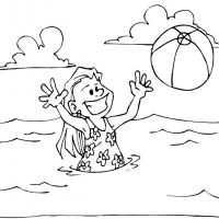 Printable Girl Swimming - Printable Coloring Sheets - Free Printable Coloring Pages
