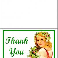 Printable Girl with Pumpkin - Printable Thank You Cards - Free Printable Cards